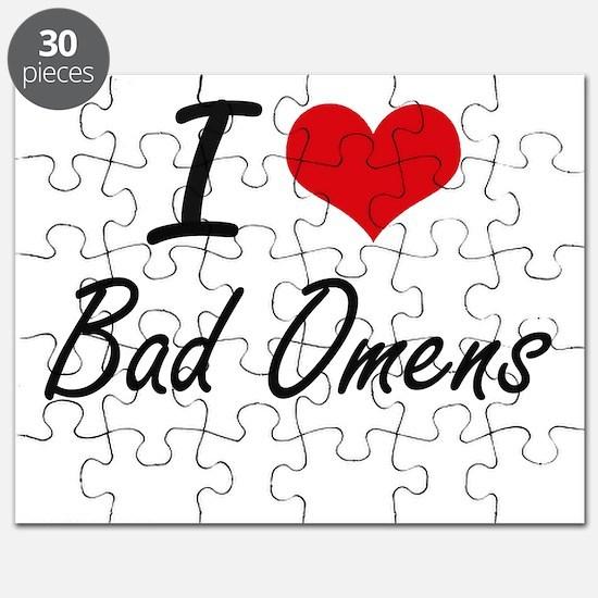 I Love Bad Omens Artistic Design Puzzle
