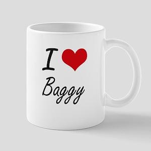 I Love Baggy Artistic Design Mugs