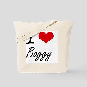 I Love Baggy Artistic Design Tote Bag