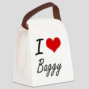 I Love Baggy Artistic Design Canvas Lunch Bag