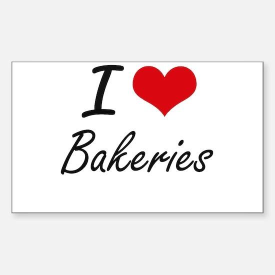 I Love Bakeries Artistic Design Decal
