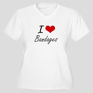 I Love Bandages Artistic Design Plus Size T-Shirt