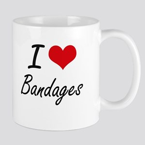 I Love Bandages Artistic Design Mugs