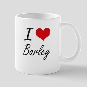 I Love Barley Artistic Design Mugs