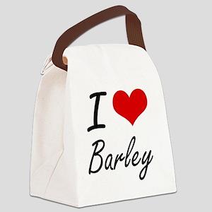 I Love Barley Artistic Design Canvas Lunch Bag
