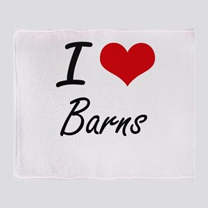 I Love Barns Artistic Design Throw Blanket