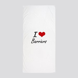 I Love Barriers Artistic Design Beach Towel