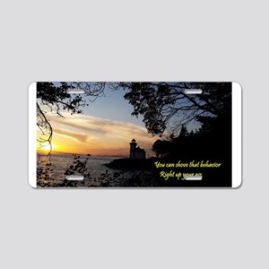 Sunset Lighthouse Aluminum License Plate