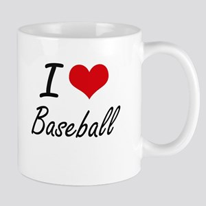 I Love Baseball Artistic Design Mugs