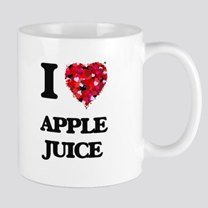 I Love Apple Juice food design Mugs