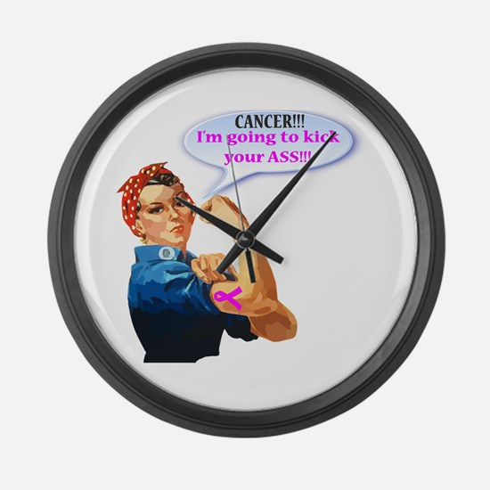 Rosie Fighting Cancer Design Large Wall Clock
