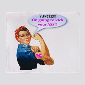 Rosie Fighting Cancer Design Throw Blanket