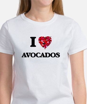 I Love Avocados food design T-Shirt