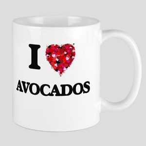 I Love Avocados food design Mugs