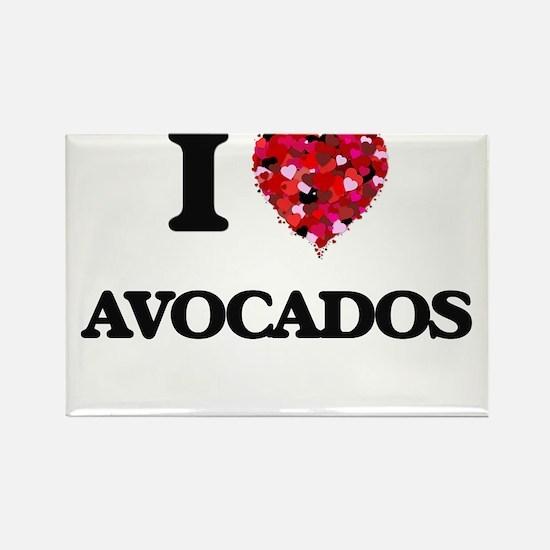 I Love Avocados food design Magnets