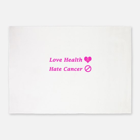 Love Health, Hate Cancer Charity Design 5'x7'Area