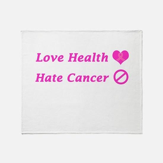 Love Health, Hate Cancer Charity Throw Blanket