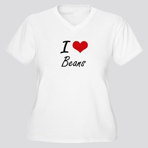 I Love Beans Artistic Design Plus Size T-Shirt