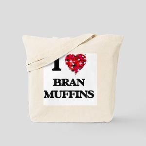 I Love Bran Muffins food design Tote Bag