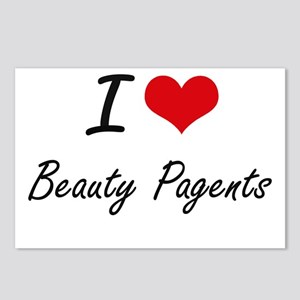 I Love Beauty Pagents Art Postcards (Package of 8)