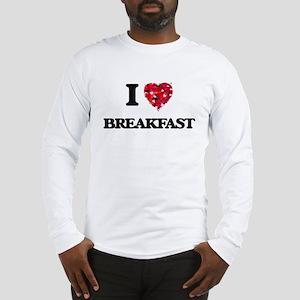I Love Breakfast food design Long Sleeve T-Shirt