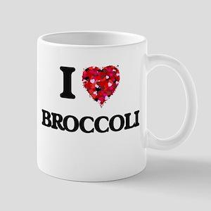 I Love Broccoli food design Mugs