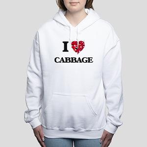 I Love Cabbage food desi Women's Hooded Sweatshirt