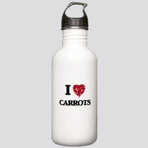 I Love Carrots food de Stainless Water Bottle 1.0L