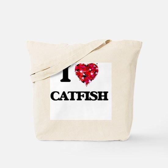 I Love Catfish food design Tote Bag