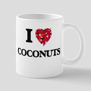 I Love Coconuts food design Mugs