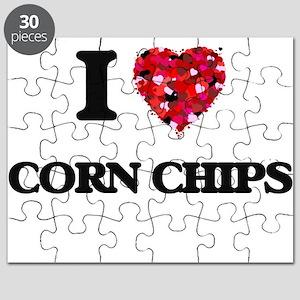 I Love Corn Chips food design Puzzle