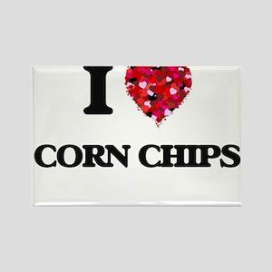 I Love Corn Chips food design Magnets