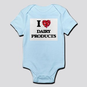 I Love Dairy Products food design Body Suit