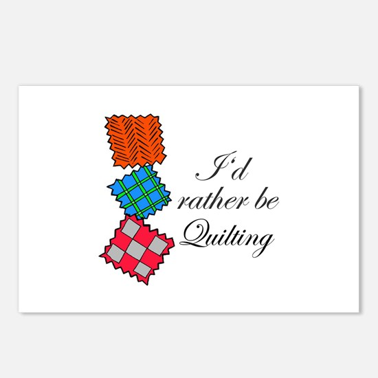 I'd Rather Be Quilting Postcards (Package of 8)