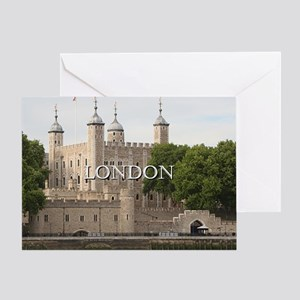 Tower of London, England (caption) Greeting Card