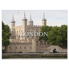 Tower of London, England (caption) Poster