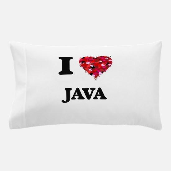 I Love Java food design Pillow Case