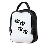 Animal Paw Prints Neoprene Lunch Bag