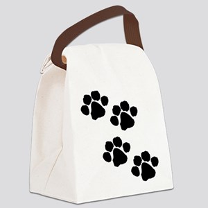 Animal Paw Prints Canvas Lunch Bag