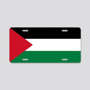 The Palestinian flag Aluminum License Plate