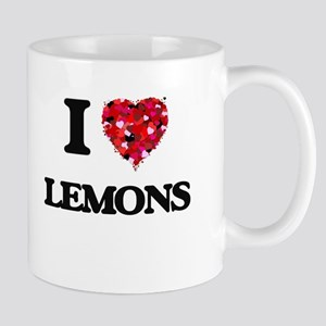 I Love Lemons food design Mugs