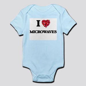 I Love Microwaves food design Body Suit