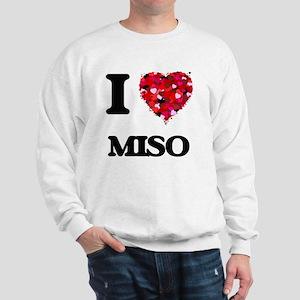 I Love Miso food design Sweatshirt