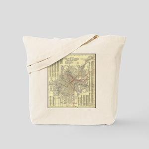 Los Angeles Old Map Tote Bag