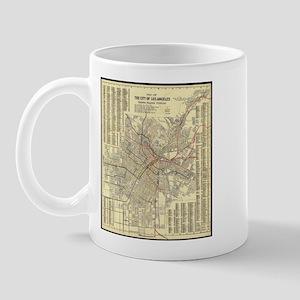 Los Angeles Old Map Mug