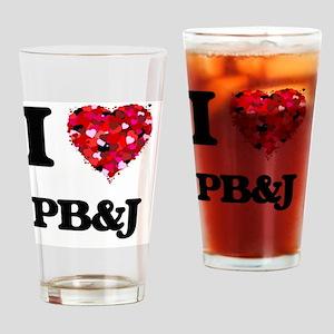 I Love Pb&J food design Drinking Glass