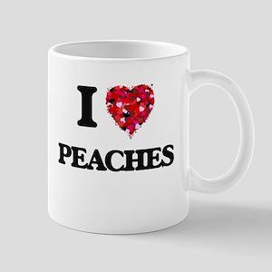 I Love Peaches food design Mugs