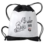 I woof you Drawstring Bag
