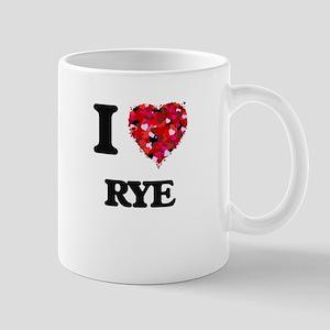 I Love Rye food design Mugs