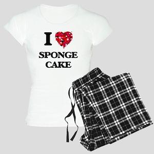 I Love Sponge Cake food des Women's Light Pajamas